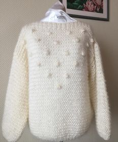 BUBBLES sweater offwhite